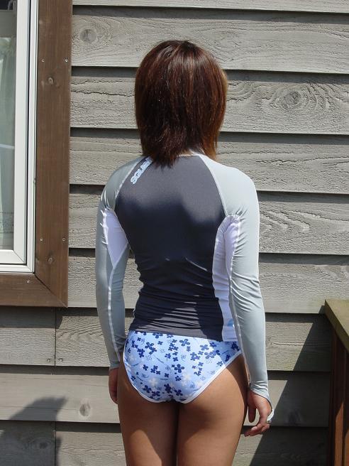 日焼け防止 UVラッシュガード ハンドカバー付き